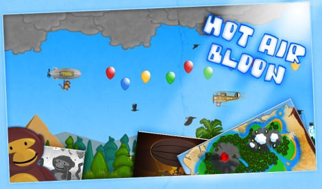 hot air bloon - Postcard
