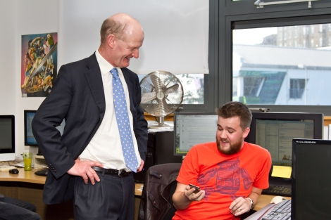 2 - Proper Games visit - David Willetts and Danny Parker