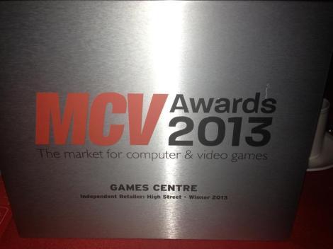 game centre - mcv award