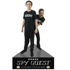 Spy Quest standee