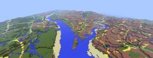 Minecraft map of Southampton Water