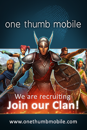 A range of roles available from Glasgow-based One Thumb Mobile