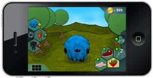Grass background UI