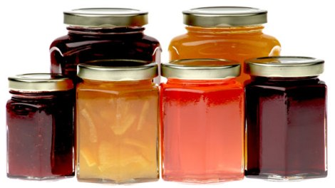 Hexagonal Jam Jars