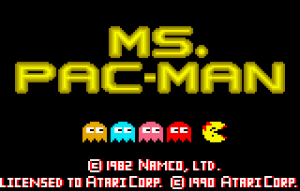 mspacman screen logo