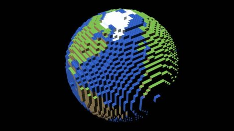pixelated-globe